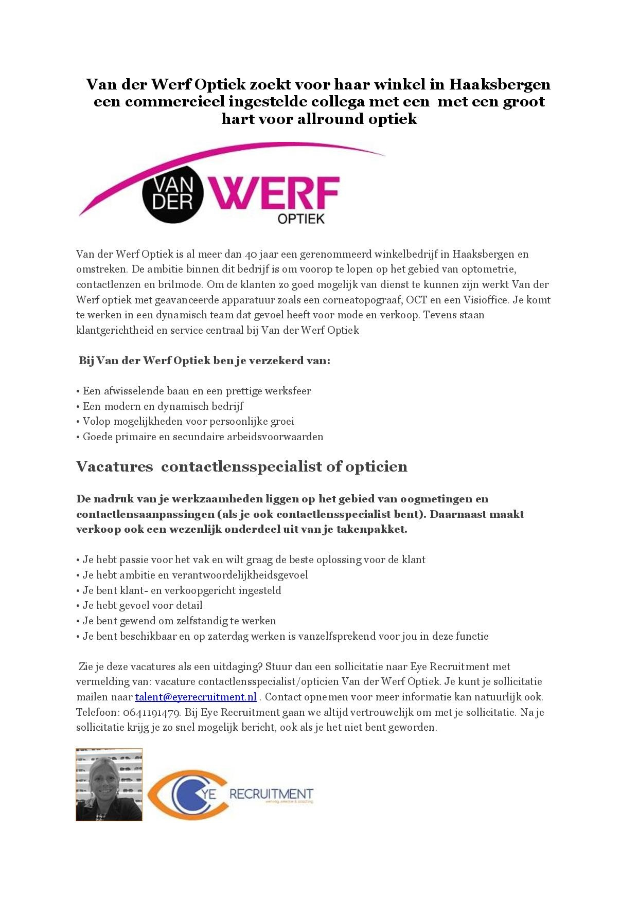 Advertentie Van der Werf Optiek opticien-page-001