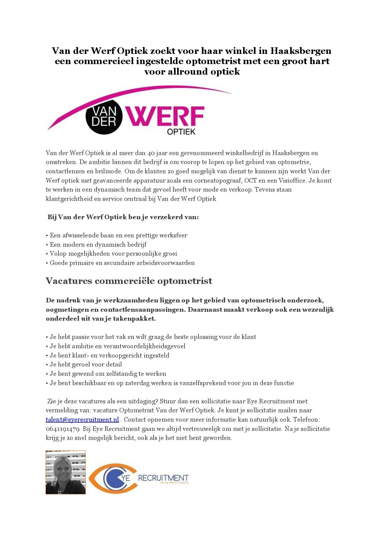 Advertentie Van der Werf Optiek optometrist-page-001