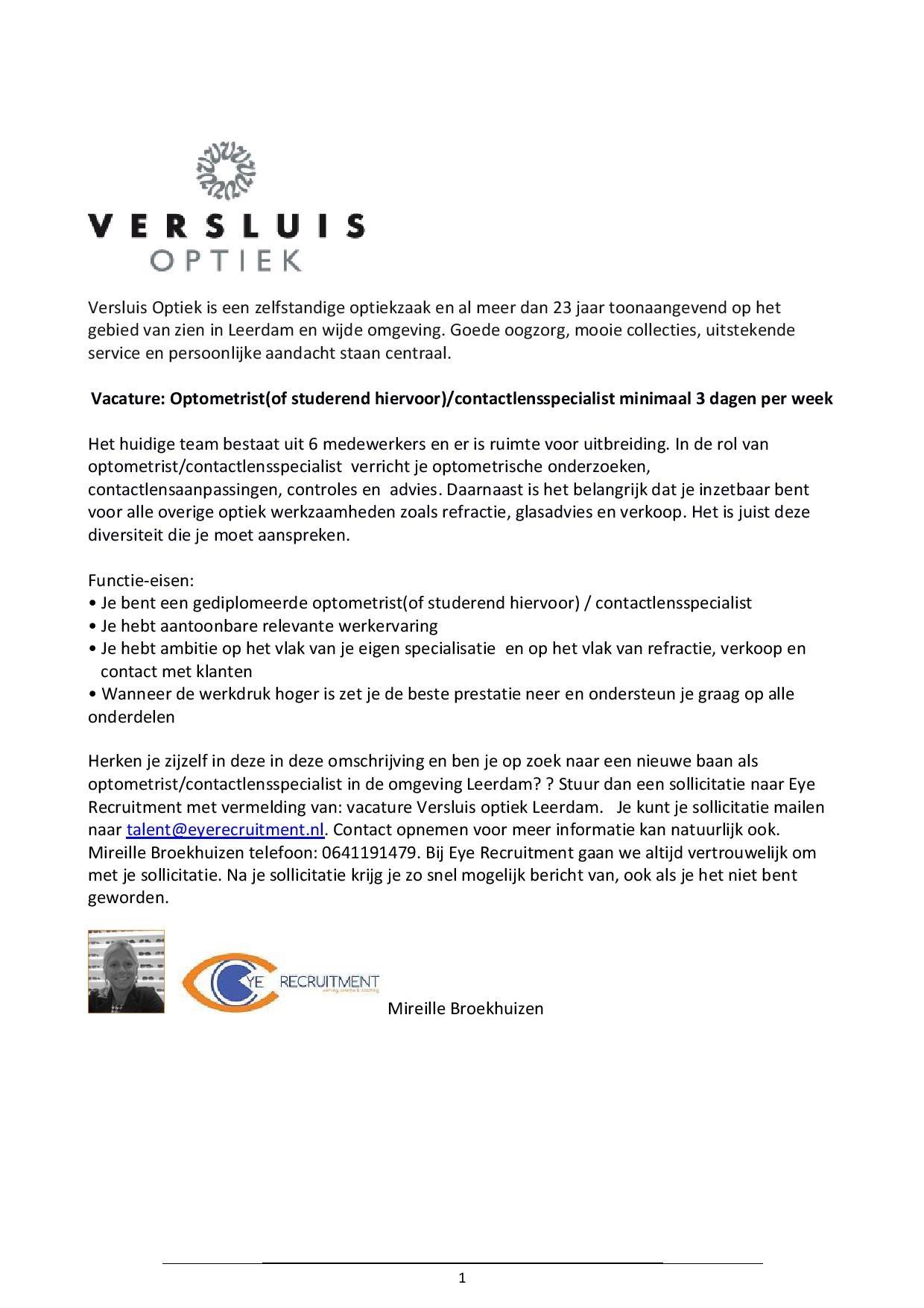 vacature Versluis Optiek optometrist-page-001