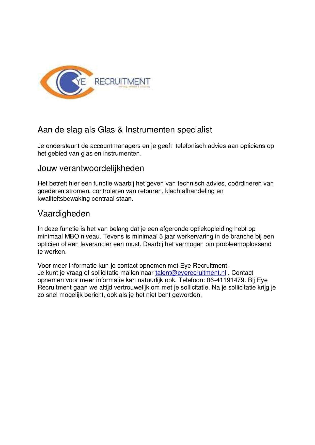 vacature Zeiss coordinator glas en instrumenten-page-001