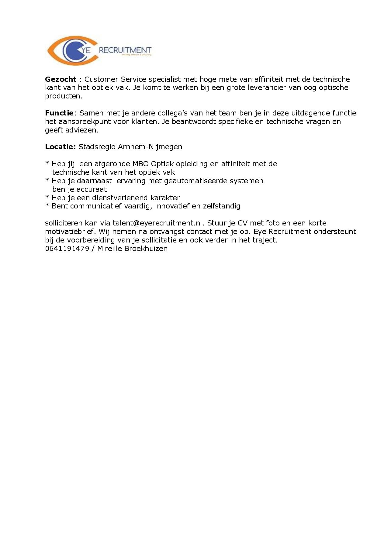 vacature essolor customers service-page-001