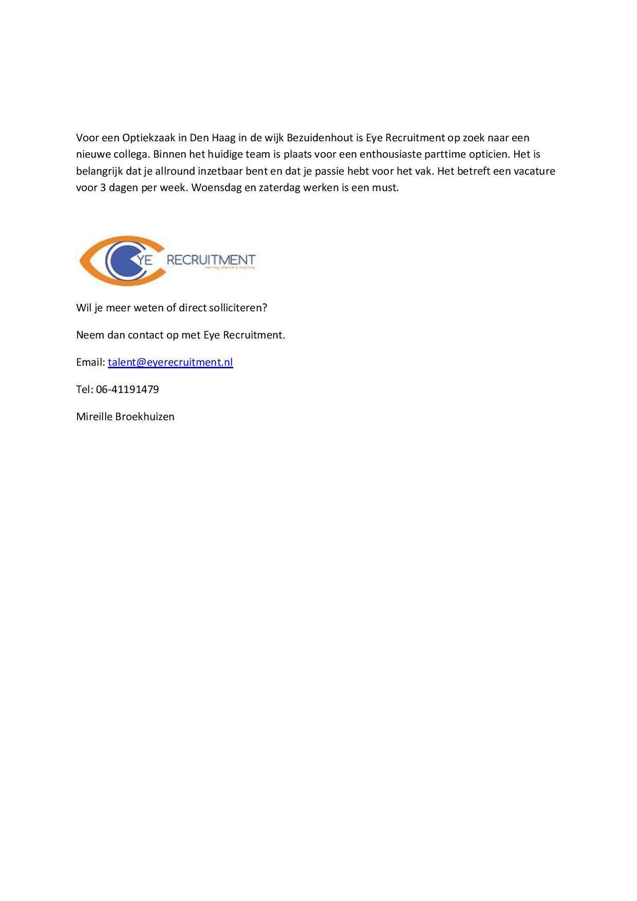 vacature opticien Eyewish Den Haag-page-001